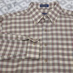 Sir Pendleton Tan Tartan Wool Long Sleeve Shirt